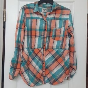 Anthro Holding Horses Flannel Shirt